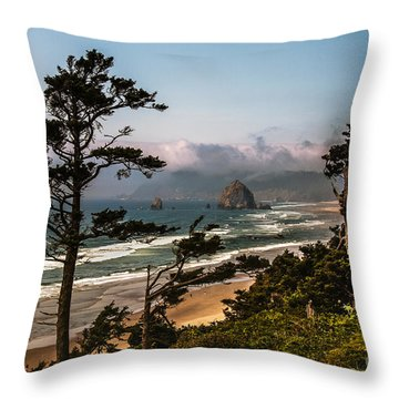 Haystack Framed Throw Pillow by Robert Bales