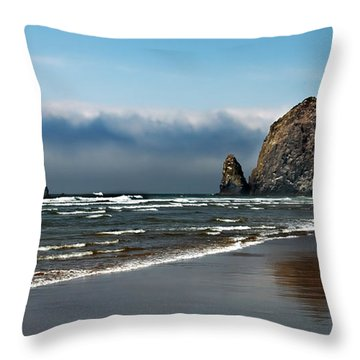 Haystack Throw Pillow by Robert Bales