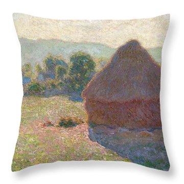 Haystacks Midday Throw Pillow