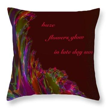 Throw Pillow featuring the digital art Haze Haiga by Judi Suni Hall