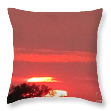 Throw Pillow featuring the photograph Hazy Sunset by Tina M Wenger