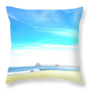 Throw Pillow featuring the photograph Hb Pier 7 by Margie Amberge