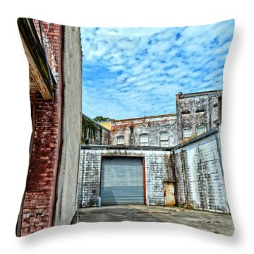 Hdr Alley Throw Pillow