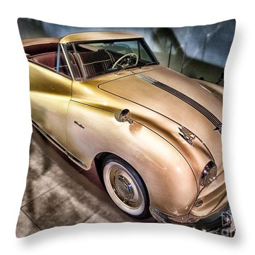 Throw Pillow featuring the photograph Hdr Classic Car by Paul Fearn