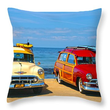 Cousins At Royal Palms  Throw Pillow