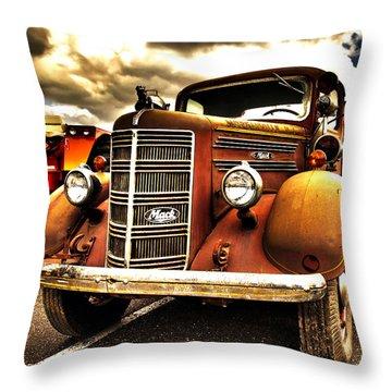 Hdr Fire Truck Throw Pillow