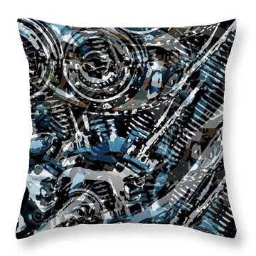 Abstract V-twin Throw Pillow