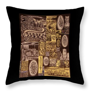 He Always Travels Alone Throw Pillow by Stuart Swartz