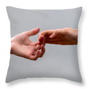 He And She - Featured 3 Throw Pillow by Alexander Senin