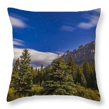 He Big Dipper Over Castle Mountain Throw Pillow