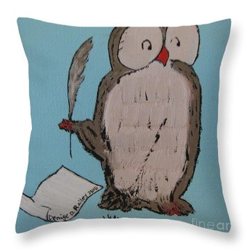 He Can Write And Read Throw Pillow