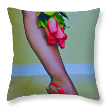 He Gave Me Roses Then Broke My Heart Throw Pillow by Tyler Robbins