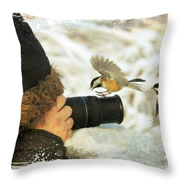 He Has Food I Know It Throw Pillow by Davandra Cribbie