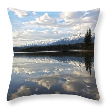 He Is Calling Throw Pillow by Janie Johnson
