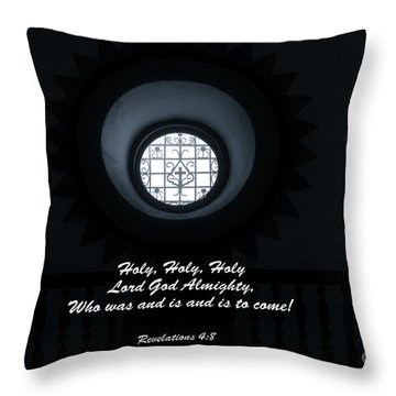 He Is Coming - Revelation 4  8 Throw Pillow by Ella Kaye Dickey