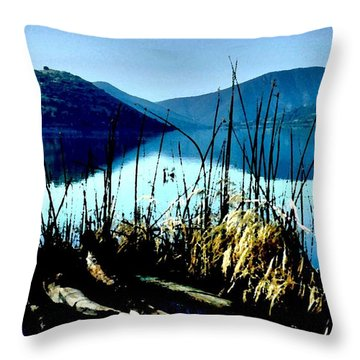 He Leads Me Beside Still Waters Throw Pillow by Sharon Soberon