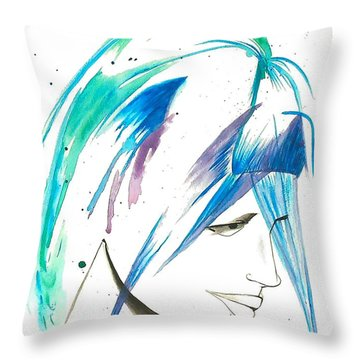 Throw Pillow featuring the painting He Loves Me He Loves Me Not by Oddball Art Co by Lizzy Love