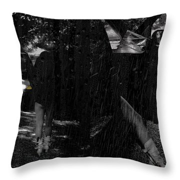 He Never Came Home Throw Pillow by Kristie  Bonnewell