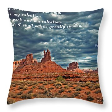 He Only Is My Rock Throw Pillow