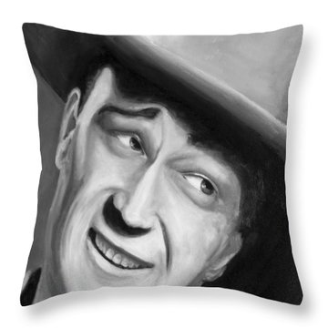 He Played A Cowboy Throw Pillow