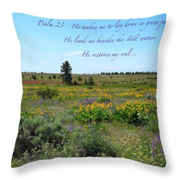He Restores My Soul Throw Pillow