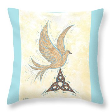 He Set Us Free Throw Pillow by Susie WEBER