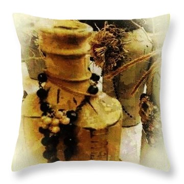 He Turned Water Into Wine Throw Pillow by Ray Tapajna