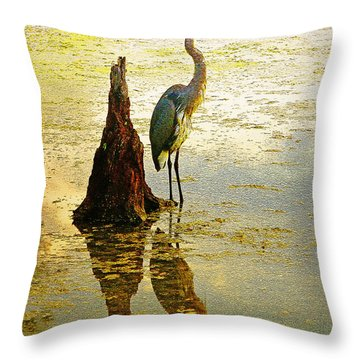 Throw Pillow featuring the photograph He Waits by Ola Allen