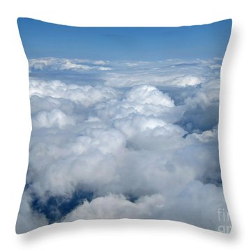 Head In The Clouds Art Prints Throw Pillow