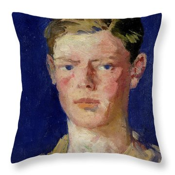 Head Of A Young Man Throw Pillow by Francis Campbell Boileau Cadell