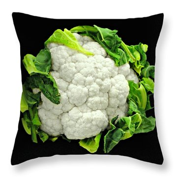Head Of Cauliflower Throw Pillow by Diana Angstadt