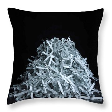 Head Of Shredded Paper Throw Pillow by Bernard Jaubert