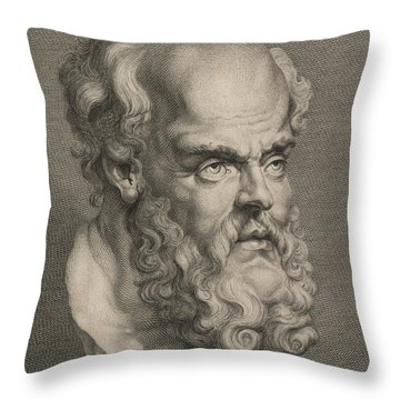 Head Of Socrates Throw Pillow
