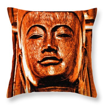 Head Of The Buddha Throw Pillow