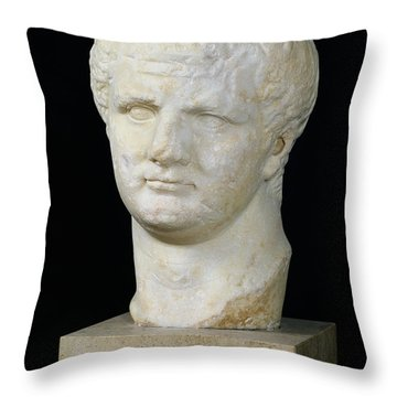 Head Of Titus Throw Pillow by Anonymous