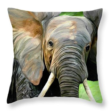 Head On Throw Pillow