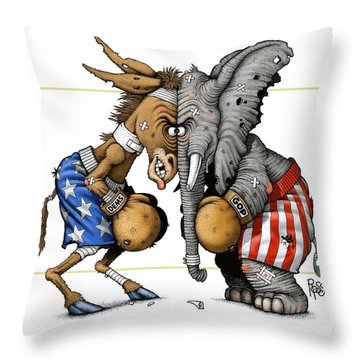 Head To Head Throw Pillow