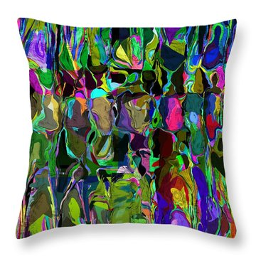 Head Voices Throw Pillow by David Lane