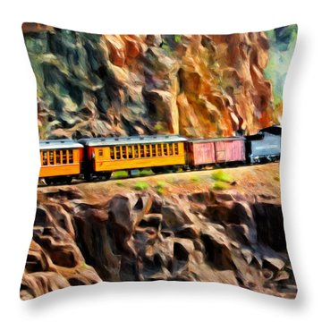 Headed Up The Grade Throw Pillow