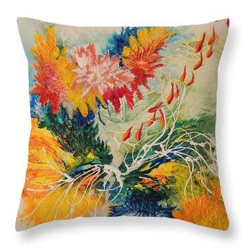 Throw Pillow featuring the painting Heading Down #1 by Lyn Olsen