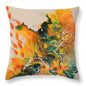 Throw Pillow featuring the painting Heading Down #2 by Lyn Olsen