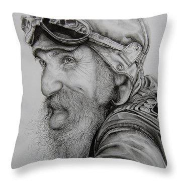 Heading Down The Long Lonesome Highway Throw Pillow by Jean Cormier