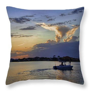 Heading For Harbor Throw Pillow by Tim Stanley