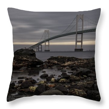 Heading For Newport Throw Pillow