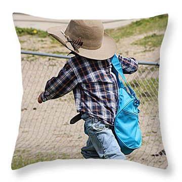 Heading For The Chute Throw Pillow