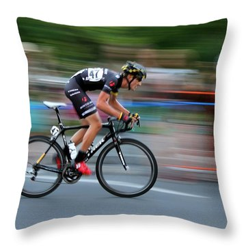 Throw Pillow featuring the photograph Heading For The Finish Line by Kevin Desrosiers