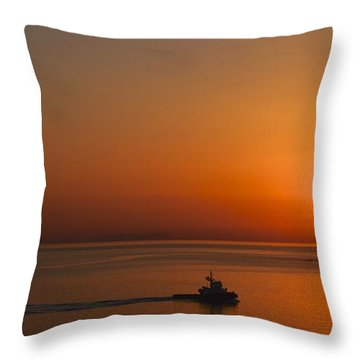 Heading Home Throw Pillow by Corinne Rhode