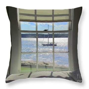 Heading Home Throw Pillow by Elizabeth Dow