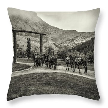 Heading Into The Mountains Throw Pillow