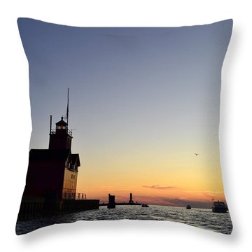 Heading Out Throw Pillow by Michelle Calkins